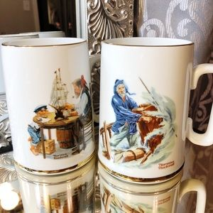 Norman Rockwell Museum 1985 Mugs